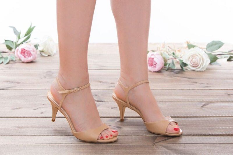 נעלי כלה עם עקב נמוך