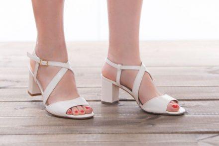 נעלי כלה עקב עבה
