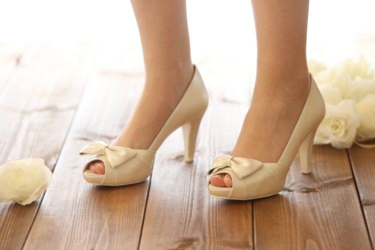 נעלי כלה עם פפיון