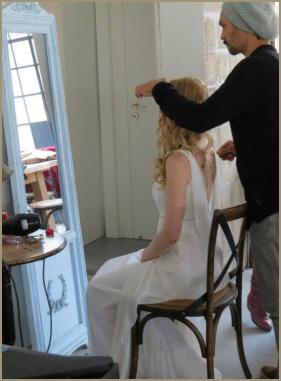 שמלות כלה - הכנות לצילומים