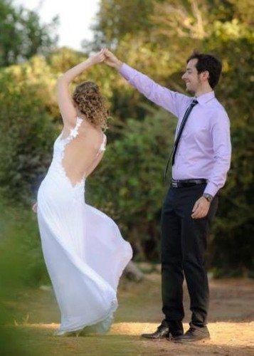 שמלת כלה חושנית עם גב חשוף