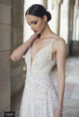 שמלת כלה יוקרתית עם חרוזים