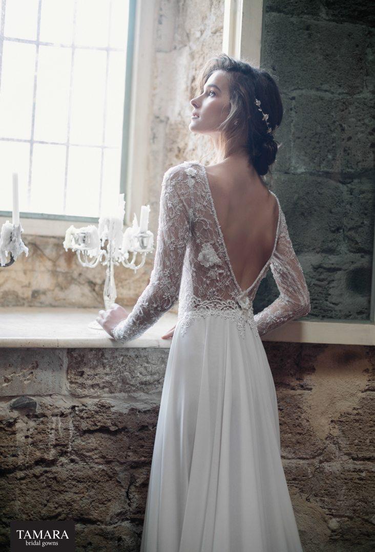 שמלת כלה שסע   שמלת כלה שרוולי תחרה   שמלות כלה - TAMARA ...