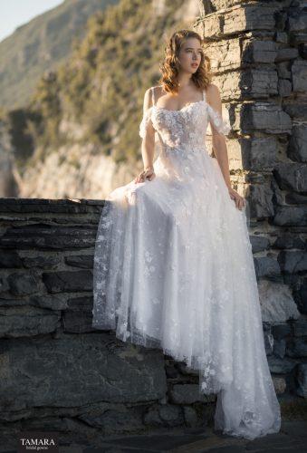 שמלת כלה עם בדי תחרה