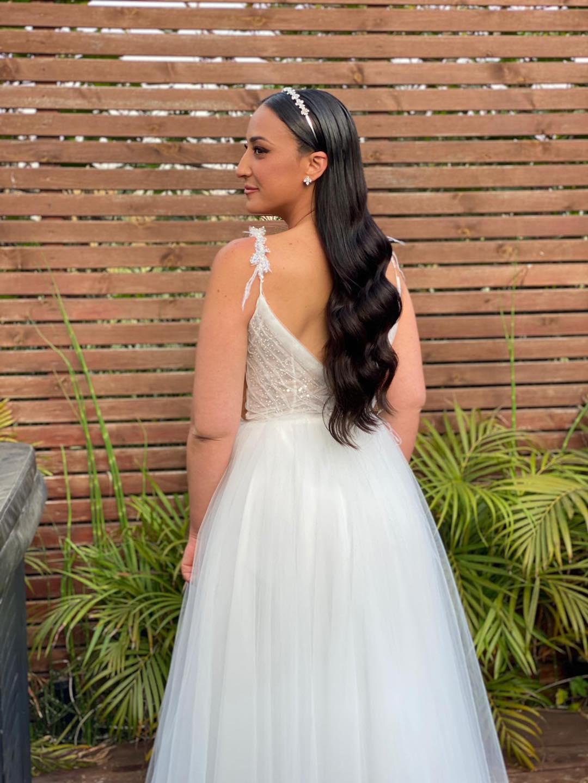 שמלת כלה עם חצאית עדינה