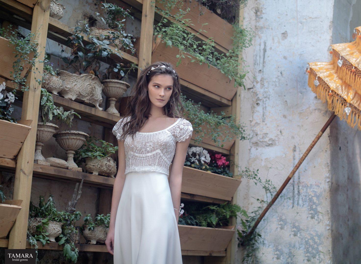 שמלת כלה אורבנית בסגנון וינטאג'