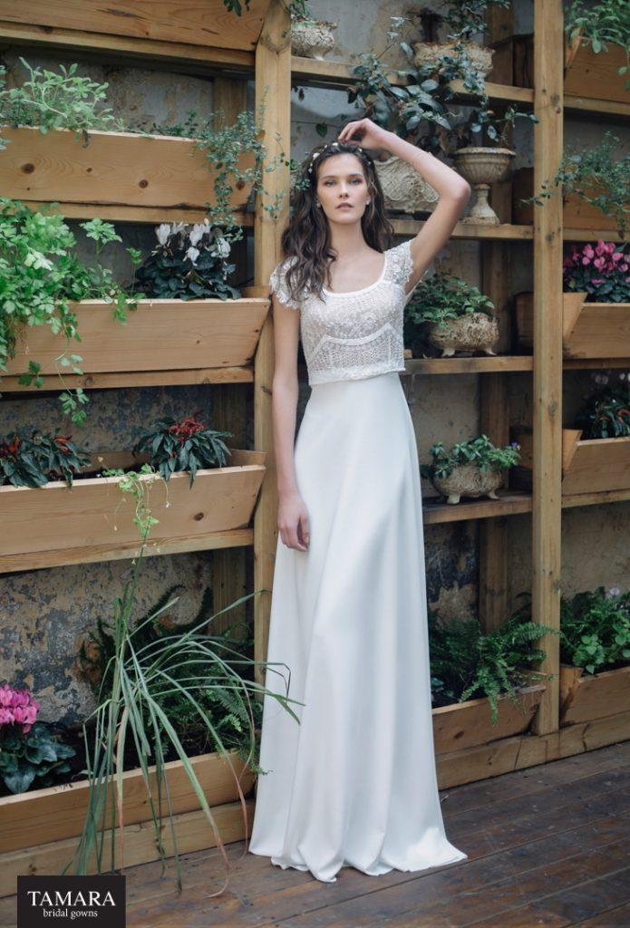 שמלת כלה עדינה עם תחרה