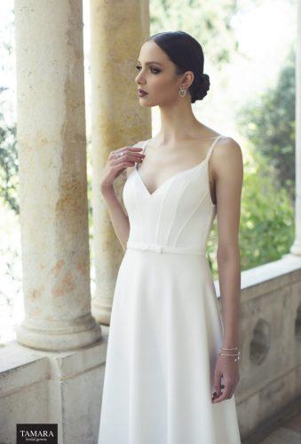 שמלת כלה שיפון עם כתפיות