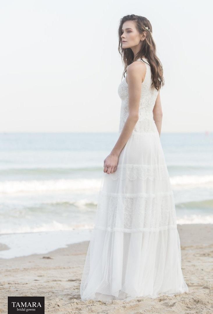 שמלת כלה כפרית שכולה תחרה
