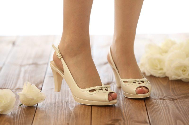 נעלי כלה בגוון פנינה