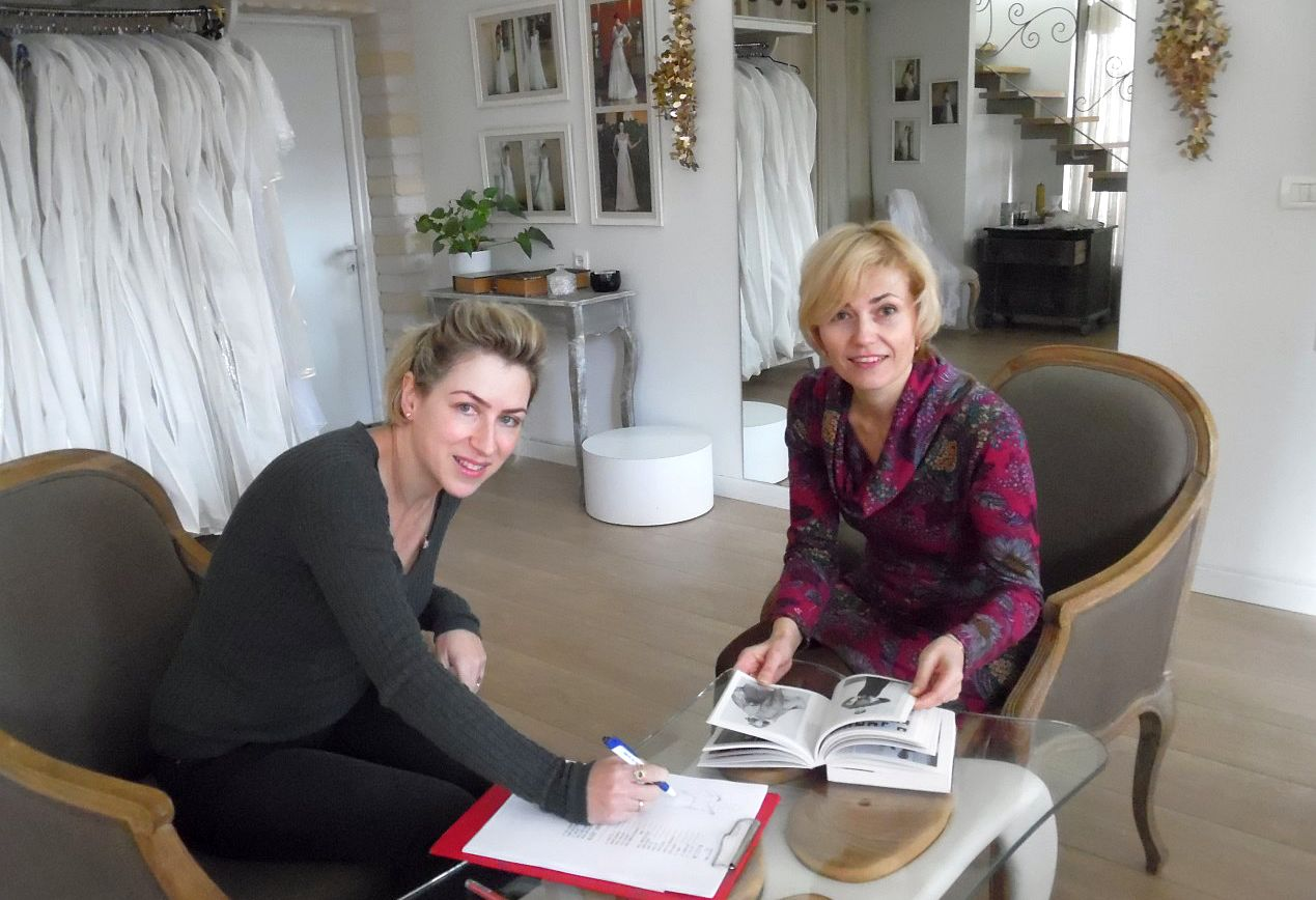 תמרה ונטשה עובדות על קולקציית שמלות כלה 2016