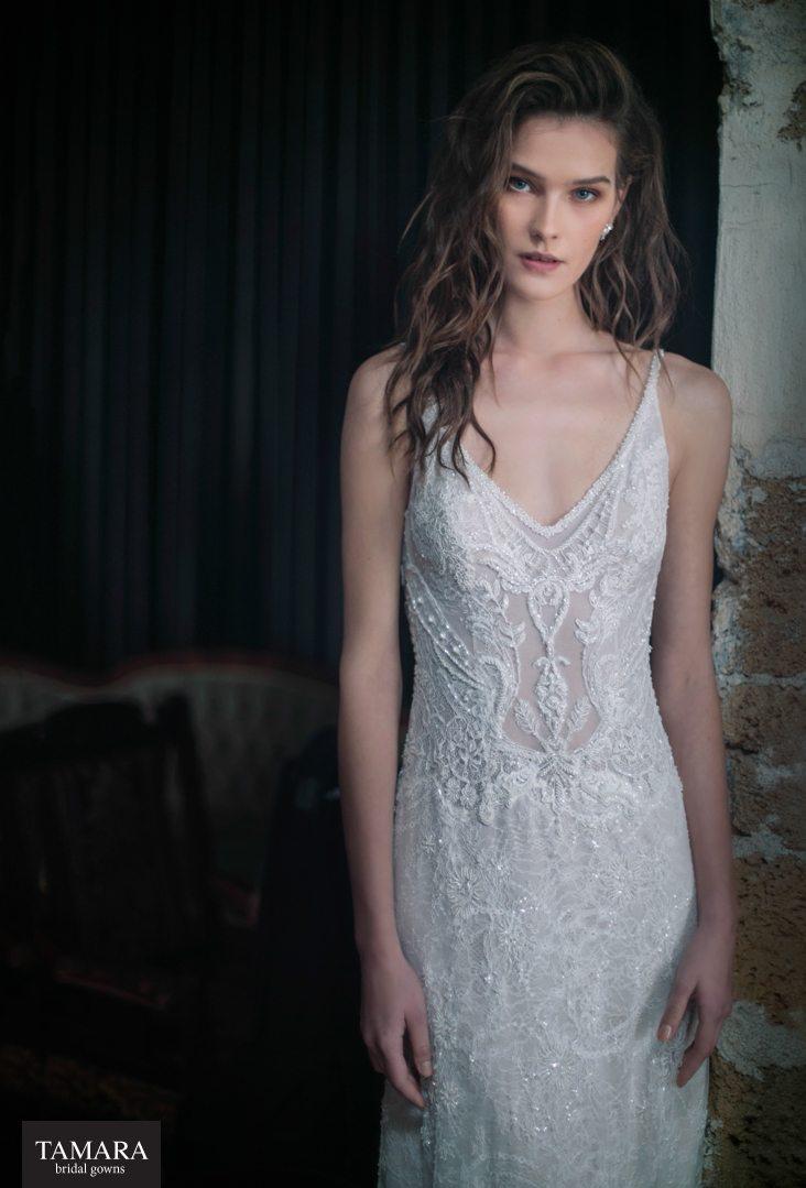 שמלת כלה תחרה רקומה