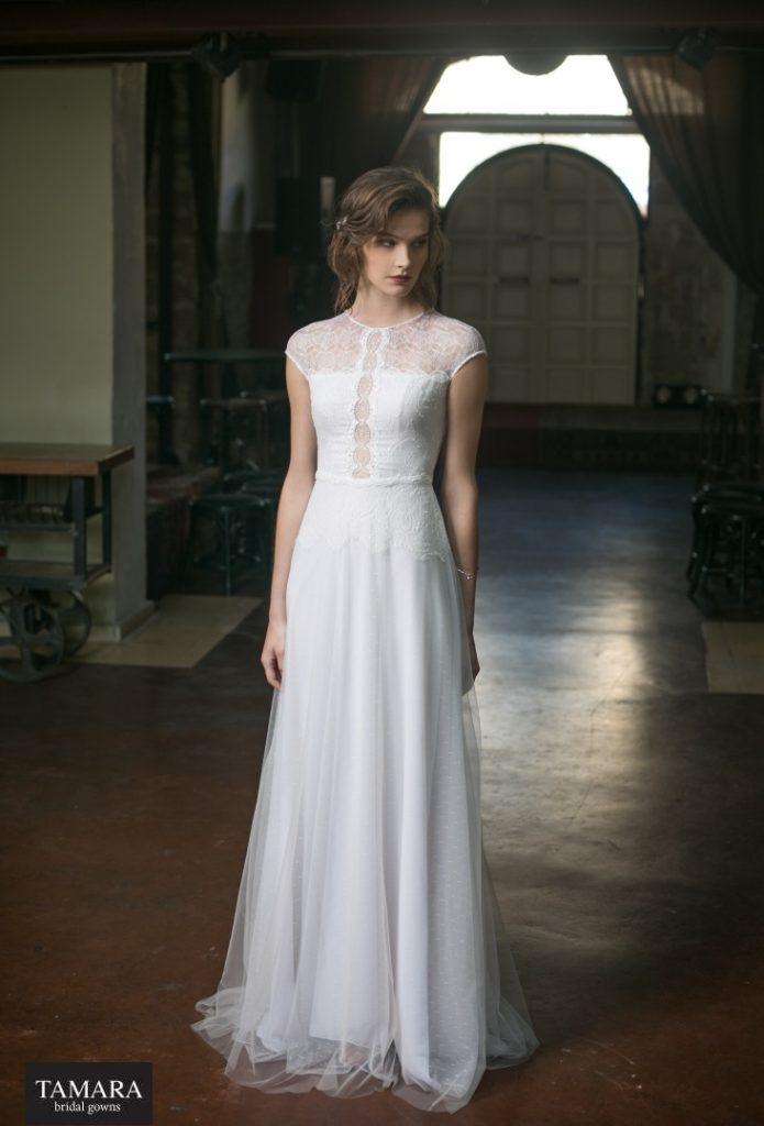 שמלת כלה רומנטית בסגנון וינטאג'