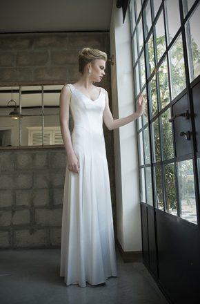שמלת כלה משי