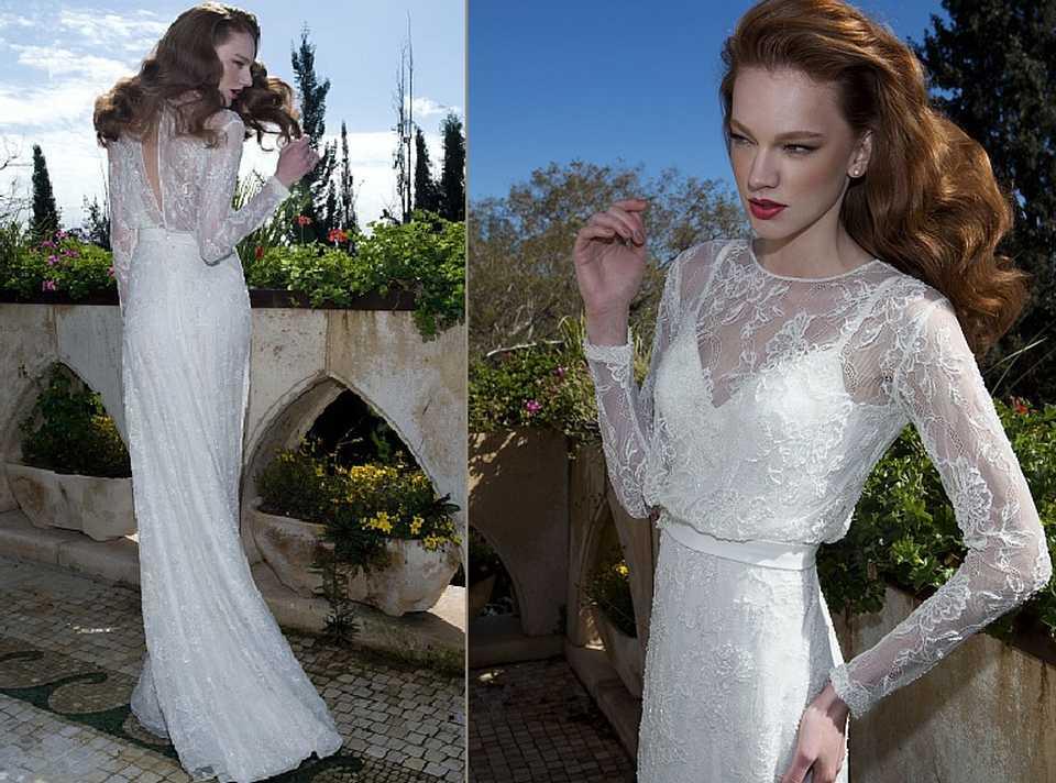 שמלת כלה עם שרוול ארוך