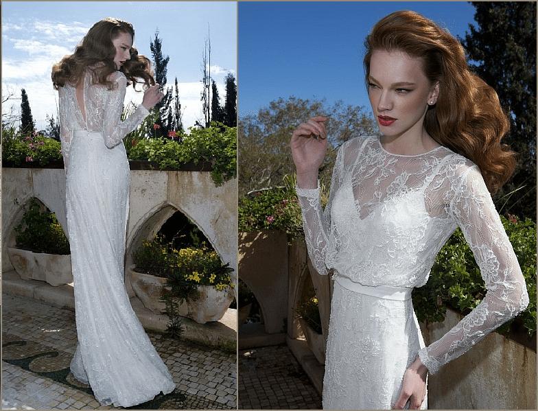 שמלות כלה עם שרוול ארוך   שמלת כלה עם שרוולים