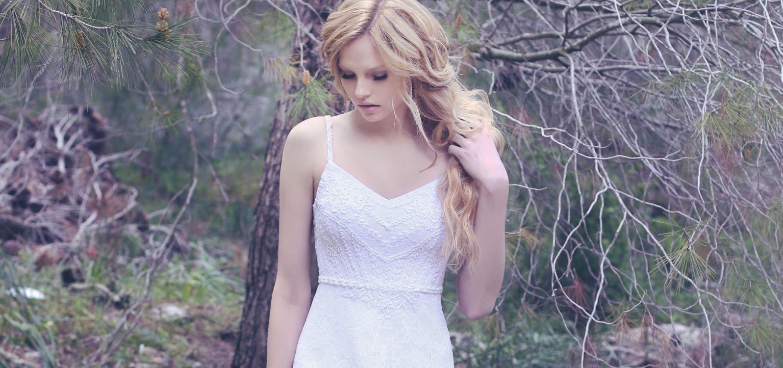 שמלת כלה פשוטה תחרה