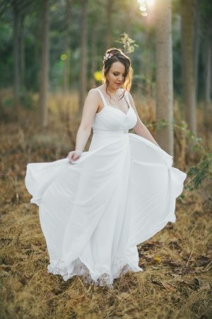 שמלת כלה שיפון מסתובבת