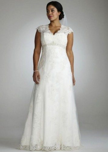 שמלת כלה תחרה מידה גדולה