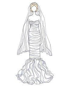 שמלת כלה של Brooklyn Decker