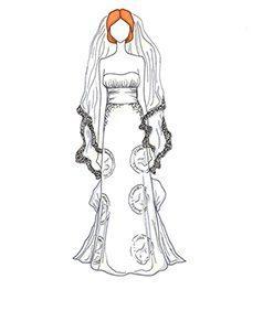 שמלת כלה של Christina Hendricks