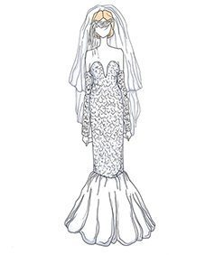 שמלת כלה של Heather Locklear