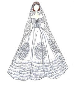 שמלת כלה של ז'קלין קנדי
