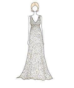 שמלת כלה של Jenna Bush