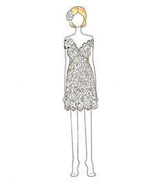 שמלת כלה של Jerry Hall