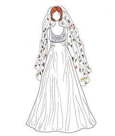 שמלת כלה של Angelina Jolie