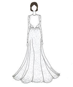 שמלת כלה של Kim Kardashian