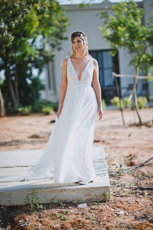 שמלת כלה משולבת תחרה עדינה