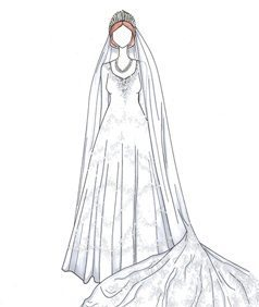שמלת כלה של המלכה אליזבת השניה