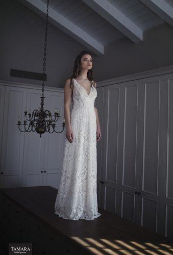 שמלת כלה תחרה רקמה