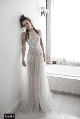 שמלת כלה שיפון עם תחרה