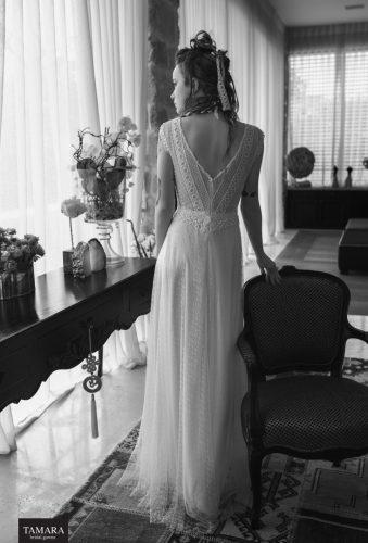 שמלת כלה וינטאג' גב פתוח