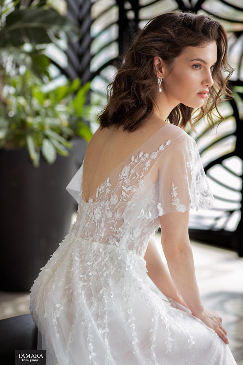 שמלת כלה קלאסית עם שרוולים
