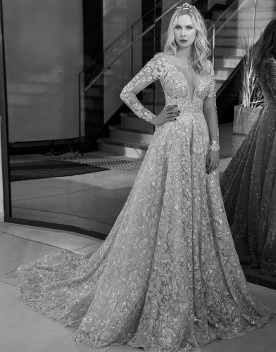 שמלת כלה נסיכותית יוקרתית