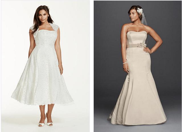 שמלות כלה לנשים במידות גדולות